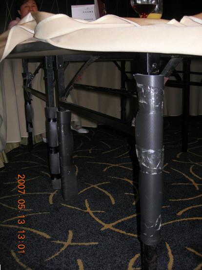 五星級飯店桌腳使用十全龍背膠保溫板防撞