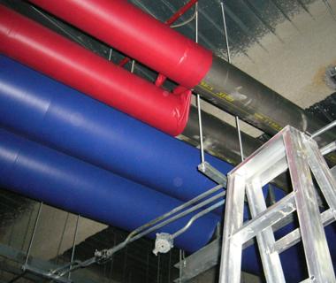十全龍保溫管使用於冰水管路保溫